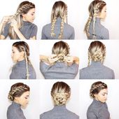 52 Simple Hairstyles Step by Step DIY #DIY #s Hairstyles #Hair #hair Hairstyle ...