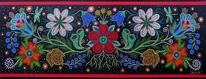 Most up-to-date Images ojibwe Beadwork Thoughts  Twine pressure can create a mas...