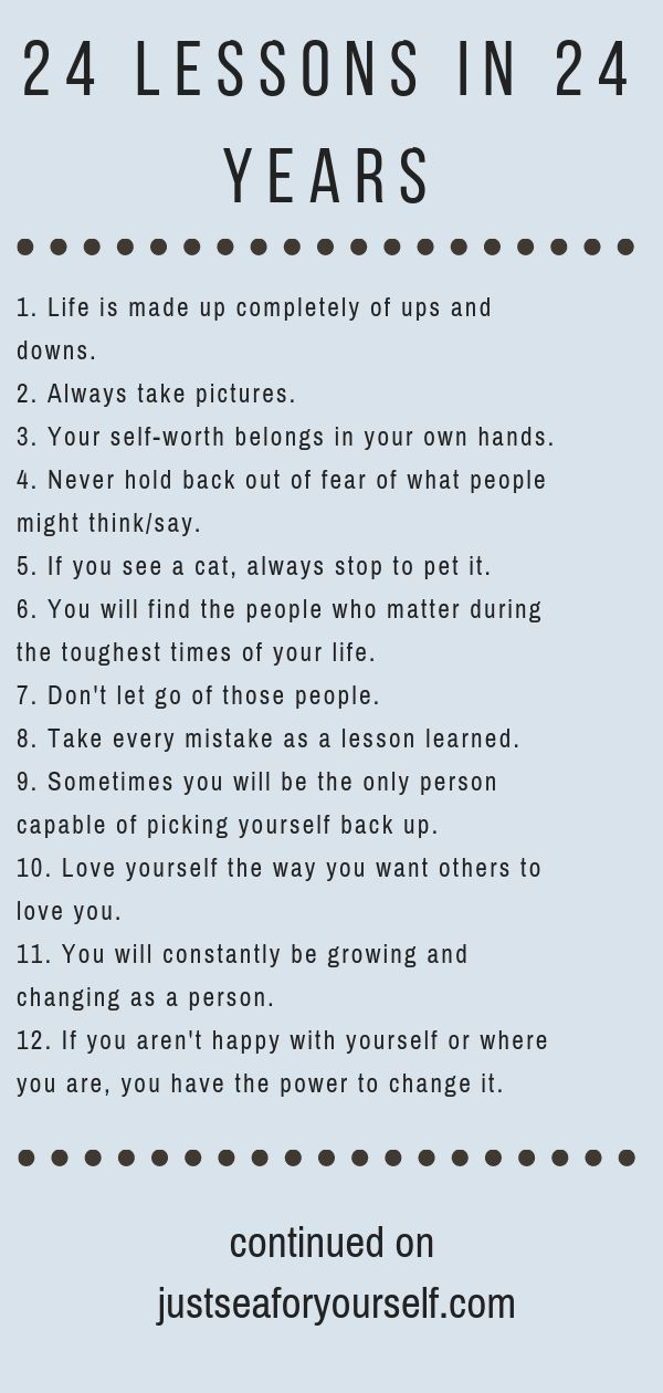 Nice 24 Life Lessons in 24 Years  Best Quotes Life Lesson Check more at bestquot...