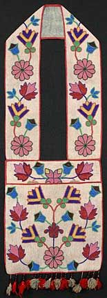 I LOVE antique bandoliers....here's a stunning example.  Ojibway, circa 1860...