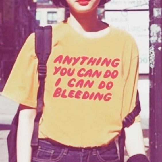 All you can do I can do bleeding letter print women's t-shirt cotton loose