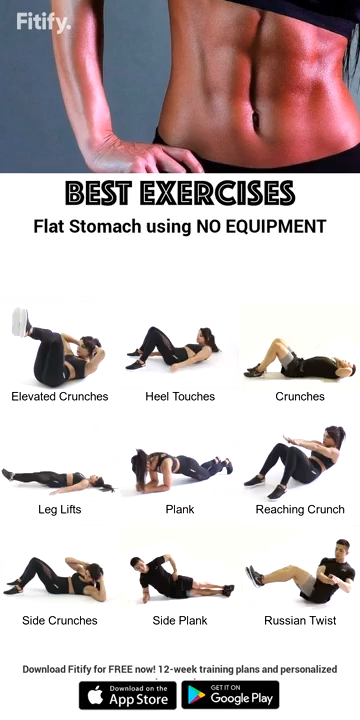 Best Exercises Flat Stomach Using No Equipment