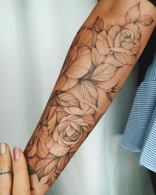 70+ Simply of Beautiful Flower Tattoo Drawing Ideas for Women  - Tattoo-Ideen - ...