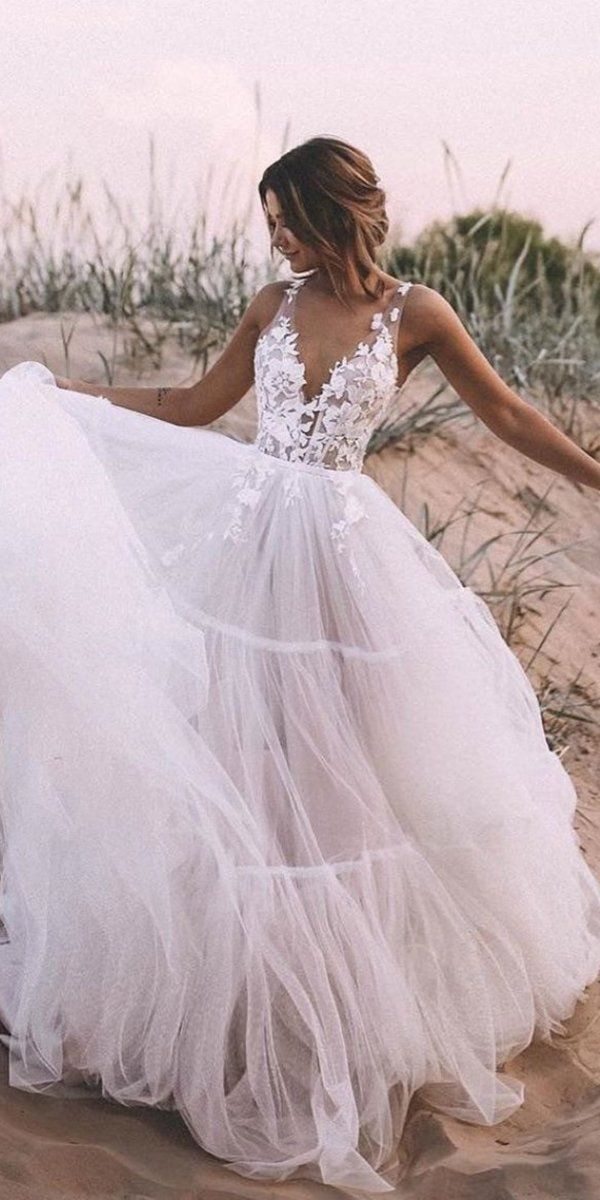 51 Beach Wedding Dresses Perfect for weddings at the destination