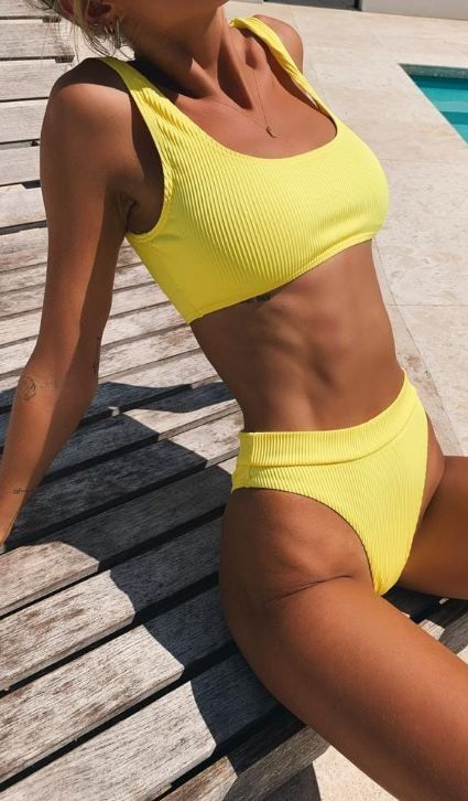 buy Hot Yellow Bikini Sets
