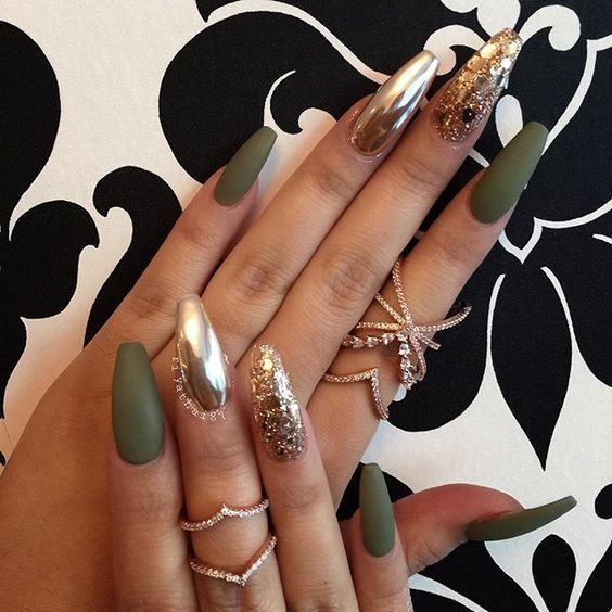 80 cute acrylic coffin nails colors designs
