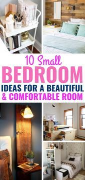 Sick of your small cramped bedroom? Then you have to try these AMAZING small bed