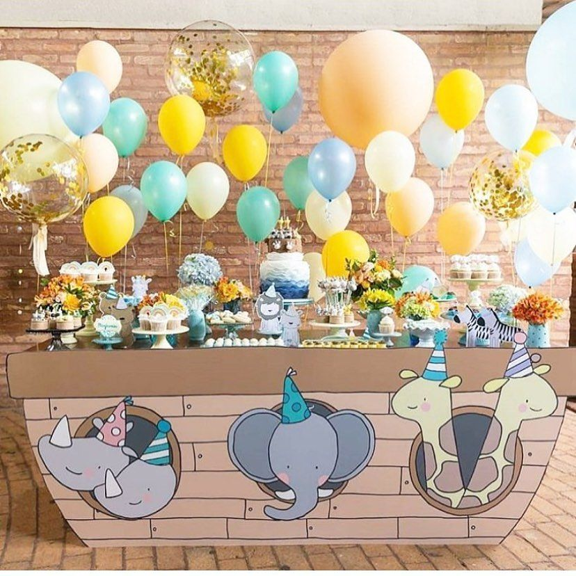 "Stunning Baby Shower Inspo 😍🎉 on Instagram: ""Noah's ark baby shower - ..."