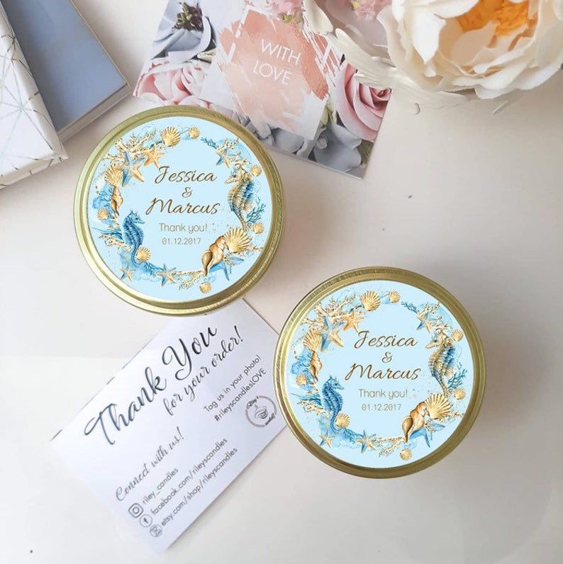 Beach Wedding Favor Ideas - Beach Theme Wedding Favors - Beach Favor Ideas - Beach Bridal Shower Favors Candles - Beach Wedding Favors 12 pc