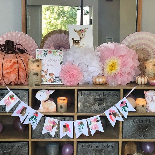 Woodland Baby Shower Decor Centerpieces Nursery Centerpiece Decorations Flowers Floral Woodland Baby