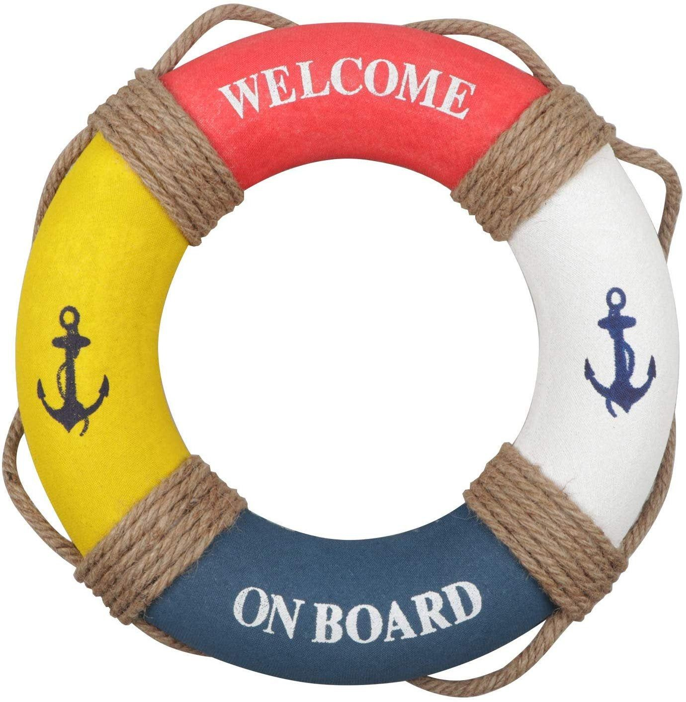Nautical Life Ring Wall Decorations; Beach Home Decor; Welcome Aboard Life Ring: Baby on Board Baby Shower; Nautical nursery wall decoration