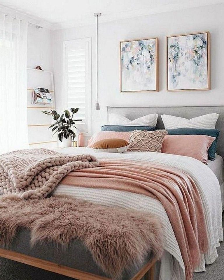 26+ Easy And Chic Bedroom Ideas for Apartment Interior Design #bedroomdecor #bed...